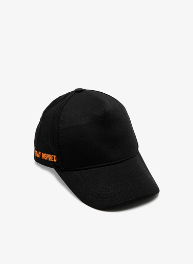 Koton Islemeli Şapka Siyah
